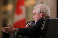 Minister of Immigration, Refugees and Citizenship, the Honourable John McCallum,present the federal government's vision for immigration,before Board of Trade of Metropolitan Montreal,Wednesday, March 16, 2016.<br /> <br /> Photo : Pierre Roussel - Agence Quebec Presse