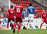 St Johnstone v Aberdeen…15.09.18…   McDiarmid Park     SPFL<br />David McMillan (partially hidden) scores for St Johnstone<br />Picture by Graeme Hart. <br />Copyright Perthshire Picture Agency<br />Tel: 01738 623350  Mobile: 07990 594431