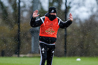 Wednesday  27 April 2016<br /> <br /> Pictured:<br /> Re: Swansea City Training Session at the Fairwood Ground, Swansea, Wales, UK