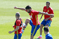 Spain's Andres Iniesta, Diego Costa and Pedro Rodriguez during training session. June 5,2017.(ALTERPHOTOS/Acero)