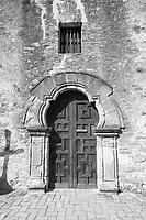 Mission Espada Facade with Cross shadow