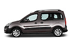 Car Driver side profile view of a2015 Peugeot Partner Tepee Outdoor 5 Door Mini Mpv Side View