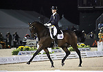 Brett Parbery and Victory Salute of Australia perform their Freestyle Dressage in the Grand Prix Freestyle Dressage competition at the Alltech World Equestrian Games in Lexington, Kentucky.