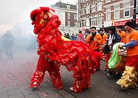 Chinees Nieuwjaar  met Leeuw in Den Haag