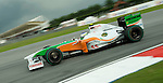 05 Apr 2009, Kuala Lumpur, Malaysia --- Force India F1 Team driver Giancarlo Fisichella of Italy steers his car during the 2009 Fia Formula One Malasyan Grand Prix at the Sepang circuit near Kuala Lumpur. Photo by Victor Fraile --- Image by © Victor Fraile / The Power of Sport Images