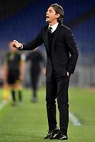 Filippo Inzaghi coach of Benevento Calcio reacts during the Serie A football match between AS Roma and Benevento Calcio at Olimpico stadium in Roma (Italy), October 18th, 2020. Photo Antonietta Baldassarre / Insidefoto