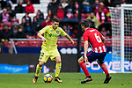 Francisco Portillo Soler (L) of Getafe CF in action during the La Liga 2017-18 match between Atletico de Madrid and Getafe CF at Wanda Metropolitano on January 06 2018 in Madrid, Spain. Photo by Diego Gonzalez / Power Sport Images