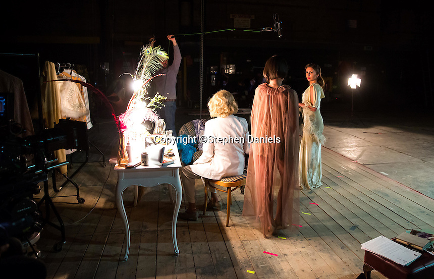 Evolutionary films production - Leni.Leni,<br /> Shot at Earling Studios, London<br /> Photo by Stephen Daniels 26th September 2015<br /> ActressActress & star Valeria Kozhevnikova (looking into camera)