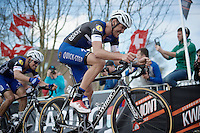 Stijn Vandenbergh (BEL/Etixx-QuickStep) up the Paterberg<br /> <br /> 100th Ronde van Vlaanderen 2016