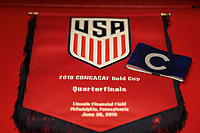 PHILADELPHIA, PENNSYLVANIA - JUNE 30: United States locker room prior to the 2019 CONCACAF Gold Cup quarterfinal match between the United States and Curacao at Lincoln Financial Field on June 30, 2019 in Philadelphia, Pennsylvania.