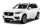 2017 Volvo XC90 Momentum 5 Door SUV Angular Front stock photos of front three quarter view