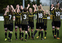 20140315 - WESTERLO , BELGIUM : Lierse players pictured motivating eachother  during the soccer match between the women teams of SK Lierse Dames  and SC Heerenveen Vrouwen , on the 19th matchday of the BeNeleague competition Saturday 15 March 2014 in Westerlo . PHOTO DAVID CATRY