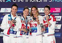 Team RUSSIAGold Medal<br /> FESIKOVAAnastasiia<br /> EFIMOVAYuliya<br /> CHIMROVASvetlana<br /> KAMENEVAMariia<br /> 4x100m Medley Relay Women<br /> Glasgow 09/08/2018<br /> Swimming Tollcross International Swimming Centre<br /> LEN European Aquatics Championships 2018 <br /> European Championships 2018 <br /> Photo Giorgio Scala/ Deepbluemedia /Insidefoto