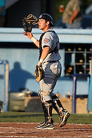 Tri-City ValleyCats catcher Miles Hamblin #27 during a game against the Batavia Muckdogs at Dwyer Stadium on July 14, 2011 in Batavia, New York.  Batavia defeated Tri-City 6-3.  (Mike Janes/Four Seam Images)