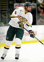 30 January 2010: University of Vermont Catamount defenseman Kyle Medvec, a Junior from Burnsville, MN, in action against the University of Maine Black Bears at Gutterson Fieldhouse in Burlington, Vermont. The Maine Black Bears and the Catamounts played to a 4-4 tie in the second game of their America East weekend series. Mandatory Credit: Ed Wolfstein Photo