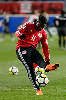 Harrison, NJ - Tuesday April 10, 2018: Carlos Rivas prior to leg two of a  CONCACAF Champions League semi-final match between the New York Red Bulls and C. D. Guadalajara at Red Bull Arena. C. D. Guadalajara defeated the New York Red Bulls 0-0 (1-0 on aggregate).