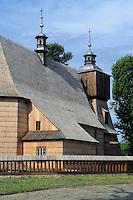 Allerheiligen-Pfarrkirche (kościół Wszystkich Świętych)  in Blizne, Woiwodschaft Kleinpolen (Województwo małopolskie), Polen, Europa, UNESCO-Weltkulturerbe<br /> Wooden AllSaints Church in Blizne, Poland, Europe, UNESCO heritage site