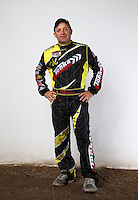 Mar. 21, 2014; Chandler, AZ, USA; LOORRS pro 2 driver Myan Spaccarelli poses for a portrait prior to round one at Wild Horse Motorsports Park. Mandatory Credit: Mark J. Rebilas-USA TODAY Sports