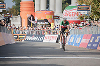 Italian National Champion Fabio Aru (ITA/Astana) rolling in over the finish line as 3rd<br /> <br /> 98th Milano - Torino 2017 (ITA) 186km
