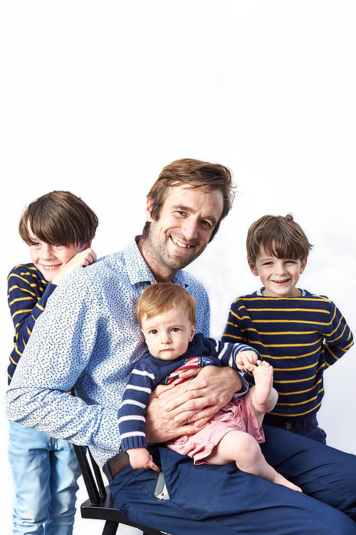 Photograph by John Angerson. 200617<br /> Fathers day feature - Tom Whipple with his sons - Felix, William and Christopher.