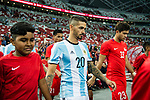 Manuel Lanzini of Argentina getting into the field during the International Test match between Argentina and Singapore at National Stadium on June 13, 2017 in Singapore. Photo by Marcio Rodrigo Machado / Power Sport Images