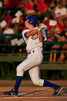 DJ LeMahieu (17) of the Daytona Cubs during a game vs. the Clearwater Threshers May 8 2010 at Jackie Robinson Ballpark in Daytona Beach, Florida. Daytona won the game against Clearwater by the score of 4-1.  Photo By Scott Jontes/Four Seam Images