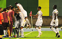 BARRANCABERMEJA  - COLOMBIA, 12-10- Jaminton Campaz celebra después de anotar un gol al Alianza Petrolera.Alianza Petrolera y Deportes Tolima  durante partido por la fecha 17 de la Liga Águila II 2019 jugado en el estadio Daniel Villa Zapata de la ciudad de Barrancabermeja. /Jaminton Campaz player of Deportes Tolima celebrates after scoring a goal agaisnt of Alianza Petrolera.Action game between Alianza Petrolera  and Deportes Tolima  during the match for the date 17 of the Liga Aguila II 2019 played at the Daniel Villa Zapata Stadium in Barrancabermeja  city. Photo: VizzorImage / José Martínez  / Contribuidor