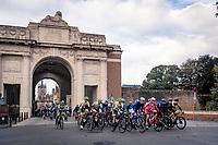 race start under the Menin Gate War Memorial<br /> <br /> 82nd Gent-Wevelgem in Flanders Fields 2020 (1.UWT)<br /> 1 day race from Ieper to Wevelgem (232km)<br /> <br /> ©kramon