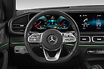 Car pictures of steering wheel view of a 2021 Mercedes Benz GLE-Coupe 350-e-AMG-Line 5 Door SUV Steering Wheel