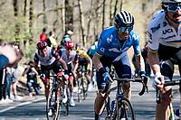 Alejandro Valverde (ESP/Movistar) up the last climb of the day: the Côte de la Roche-aux-Faucons<br /> <br /> 107th Liège-Bastogne-Liège 2021 (1.UWT)<br /> 1 day race from Liège to Liège (259km)<br /> <br /> ©kramon