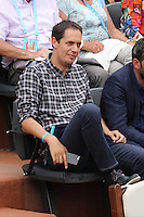 Grand Corps Malade seen watching tennis during Roland Garros tennis open 2016 on may 27 2016.