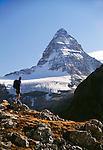 Hiker, Mount Assiniboine, Mount Assiniboine Provincial Park, British Columbia, Canada