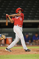 Fidel Castro (15) of the ACL Reds during a game against the ACL Cubs on September 17, 2021 at Sloan Park in Mesa, Arizona. (Tracy Proffitt/Four Seam Images)