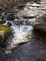 Water descending over rocks<br />
