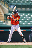 GCL Orioles left fielder Tanner Kirk (18) at bat during a game against the GCL Red Sox on August 16, 2016 at the Ed Smith Stadium in Sarasota, Florida.  GCL Red Sox defeated GCL Orioles 2-0.  (Mike Janes/Four Seam Images)