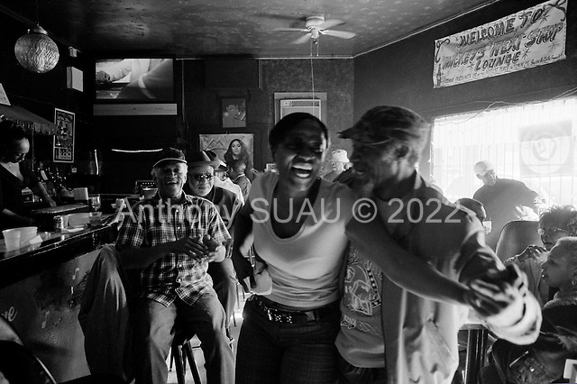 New Orleans, Louisiana.USA.February 26, 2006..Kermit Ruffin performs at Nick's Next Stop Lounge in the 7th ward.