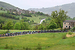 The peloton during Stage 4 of the 2021 Giro d'Italia, running 187km from Piacenza to Sestola, Italy. 11th May 2021.  <br /> Picture: LaPresse/Fabio Ferrari | Cyclefile<br /> <br /> All photos usage must carry mandatory copyright credit (© Cyclefile | LaPresse/Fabio Ferrari)