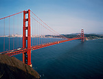 Golden Gate National Recreation Area, CA<br /> San Francisco and the Golden Gate Bridge from the Marin headlands