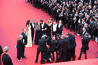 George Clooney and his wife Amal Clooney, Jodie Foster, Dominic West, Julia Roberts, Jack O'Connell, Caitriona Balfe - CANNES 2016 - MONTEE DES MARCHES DU FILM 'MONEY MONSTER'