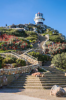 South Africa.  Cape Point Old Lighthouse, Cape Peninsula.  Southwesternmost point of the African continent.
