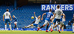 22.08.2020 Rangers v Kilmarnock: Ryan Kent forces a fine save from keeper Danny Rogers