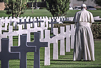 Pope Francis  mass at the U.S. World War II cemetery in Nettuno, Rome November 2,2017