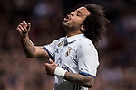 Marcelo Vieira Da Silva of Real Madrid reacts during their La Liga match between Real Madrid and Real Betis at the Santiago Bernabeu Stadium on 12 March 2017 in Madrid, Spain. Photo by Diego Gonzalez Souto / Power Sport Images
