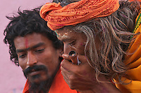 Sadu smoking weed, drugs, Varanasi India