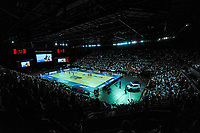 A general view of the ANZ Premiership netball final between Northern Mystics and Mainland Tactix at Spark Arena in Auckland, New Zealand on Sunday, 8 August 2021. Photo: Dave Lintott / lintottphoto.co.nz