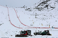 16th October 2020, Rettenbachferner, Soelden, Austria; FIS World Cup Alpine Skiing course set up; Alpine Ski World Cup 2020-2021 - during the Coronavirus Outbreak . One day before the Giant Slalom as part of the Alpine Ski World Cup in Solden; The slope at the glacier with groomers