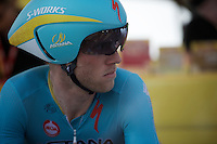 Lars Boom (NLD/Astana) starts this Tour despite low cortisol levels.<br /> Following MPCC regulations he should be taken out of the race because of it, but his Astana Team decided no to comply in this case and thereby throwing the MPCC into a severe existential crisis.<br /> Boom feels the responsibility (and media attention) weighing upon him.<br /> <br /> stage 1 prologue: Utrecht (13.8km)<br /> Tour de France 2015