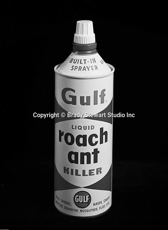 Client: Gulf Oil Company<br /> Art Studio: Huot Studio<br /> Product: Gulf Roach Ant Killer<br /> Location: Brady Studio Studio, 725 Liberty Avenue in Pittsburgh<br /> <br /> Gulf liquid roach ant killer with a built-in sprayer.  I remember, it was pretty good stuff.<br /> <br /> Founded by William Mellon in 1909, Gulf Oil remains one of the most well known Oil Company brands in the world. Gulfpride was first marketed in 1920 and remains one of Gulf's most recognized brands today.