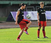 Hungary - Hongarije : UEFA Women's Euro Qualifying group stage (Group 3) - 20/06/2012 - 17:00 - szombathely  - : Hungary ( Hongarije ) - BELGIUM ( Belgie) :.Cecile De Gernier.foto DAVID CATRY / JOKE VUYLSTEKE / Vrouwenteam.be.