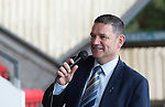 St Johnstone Player of the Year Awards 2014-15.....16.05.15<br /> Chairman Steve Brown speaks<br /> Picture by Graeme Hart.<br /> Copyright Perthshire Picture Agency<br /> Tel: 01738 623350  Mobile: 07990 594431